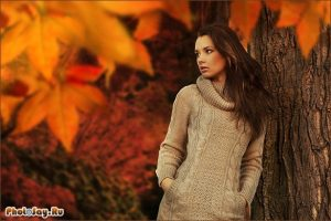 фотосессии в лесу осенью 007