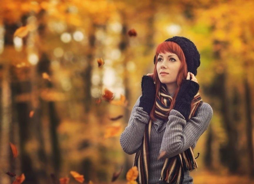 фотосессии в лесу осенью 011