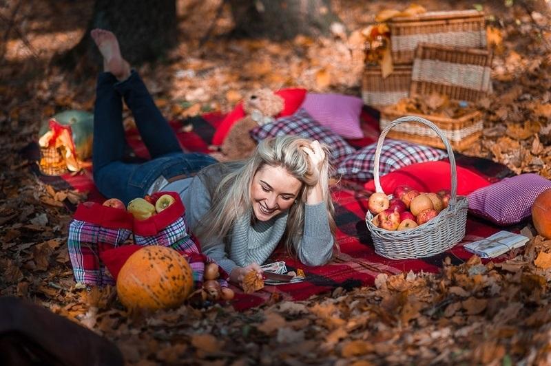 фотосессии в лесу осенью 017