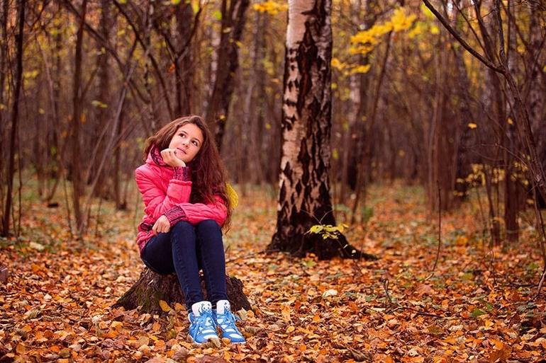фотосессии в лесу осенью 019