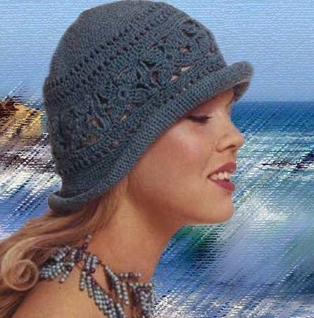 фото вязанные спицами шляпки на зиму 013