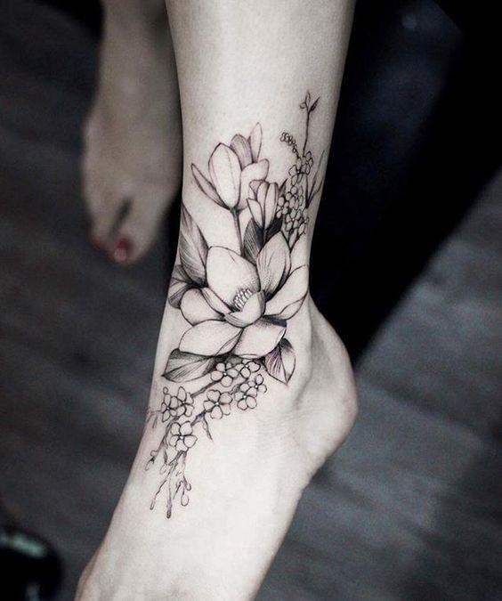 цветы тату для девушек 012