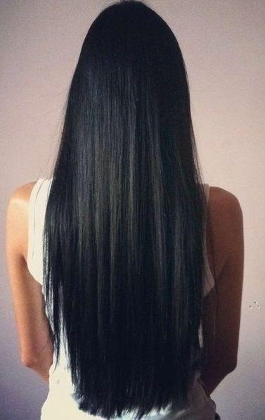черные длинные волосы фото 008