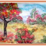 Чудесный осенний пейзаж рисунки для детей
