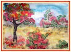 чудесный осенний пейзаж рисунки для детей 011