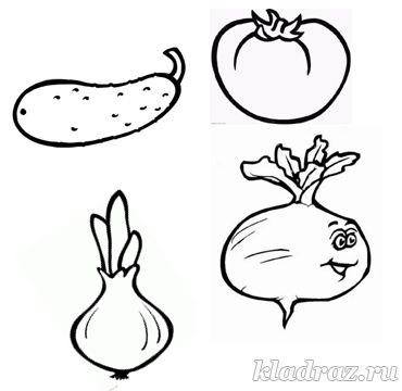 шаблон для аппликации овощи 005