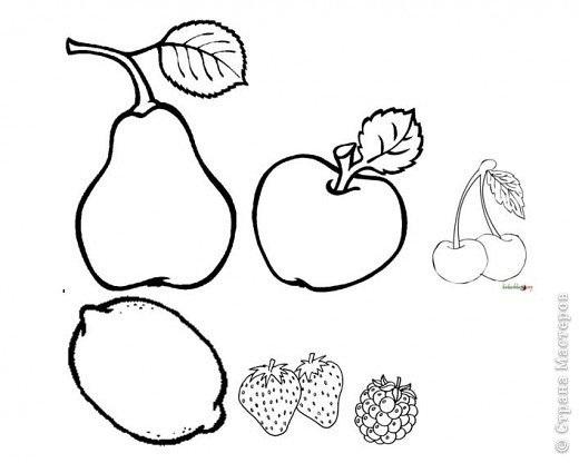 шаблон для аппликации овощи 008