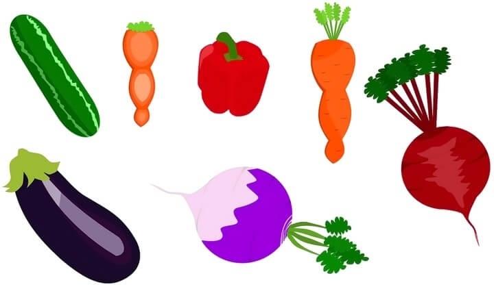 шаблон для аппликации овощи 010