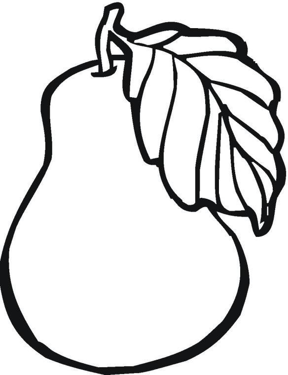 шаблон для аппликации овощи 012