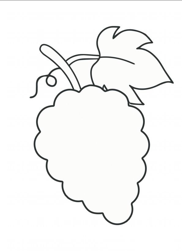 шаблон для аппликации овощи 016