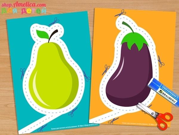 шаблон для аппликации овощи 017