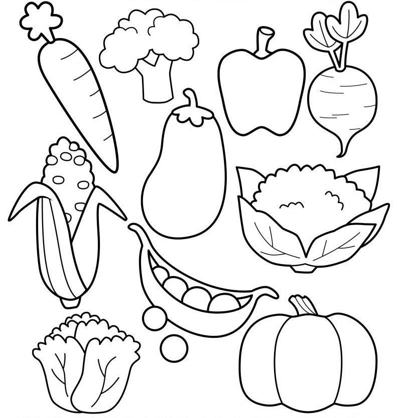 шаблон для аппликации овощи 019
