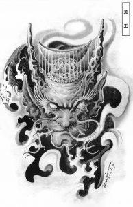 эскизы тату японский стиль 004
