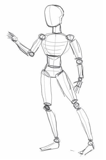 эскиз человека для рисования 003