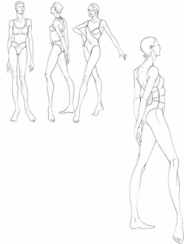 эскиз человека для рисования 009