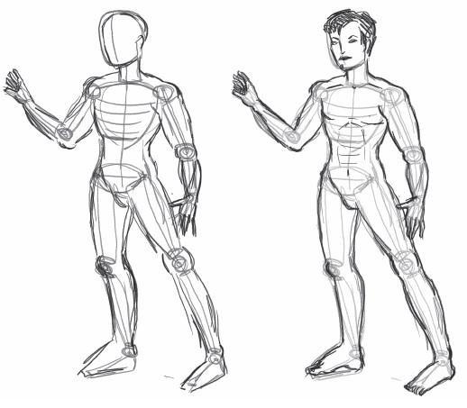эскиз человека для рисования 010