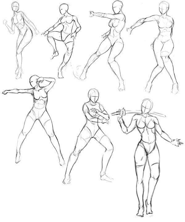 эскиз человека для рисования 015