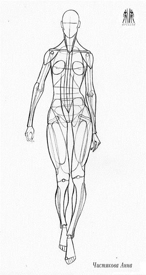 эскиз человека для рисования 017