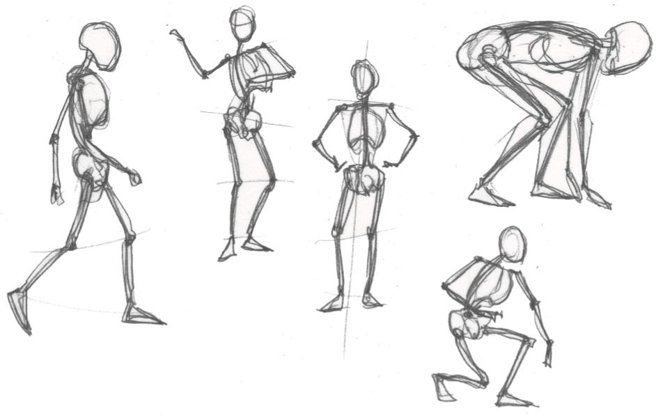 эскиз человека для рисования 018