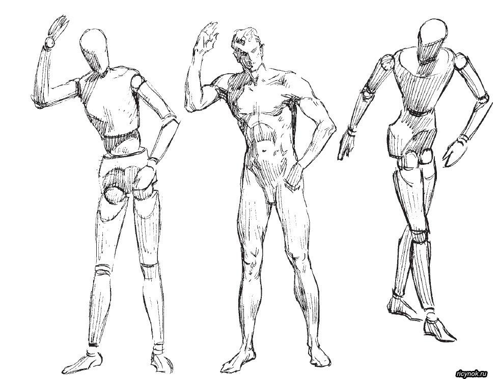 эскиз человека для рисования 022