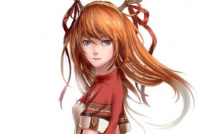 Аниме рыжие девушки 001