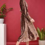 Бронзовое платье — фото