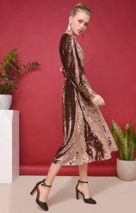 Бронзовое платье 023