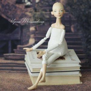Выкройка тела для будуарной куклы 007
