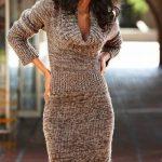 Вязаное платье на машинке — красивые изображения (23 фото)