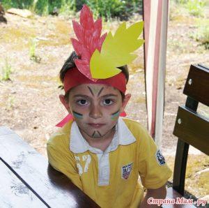 Картинка индейца для детей 020