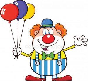 Картинка клоун с шарами для детей 002