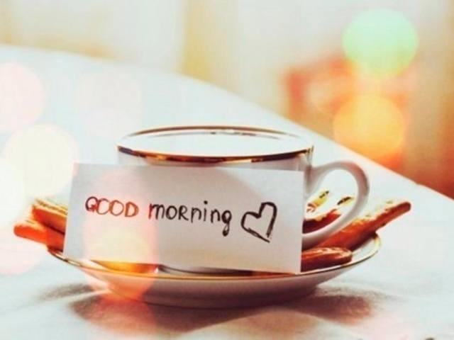Картинки девушка утром с кофе 003