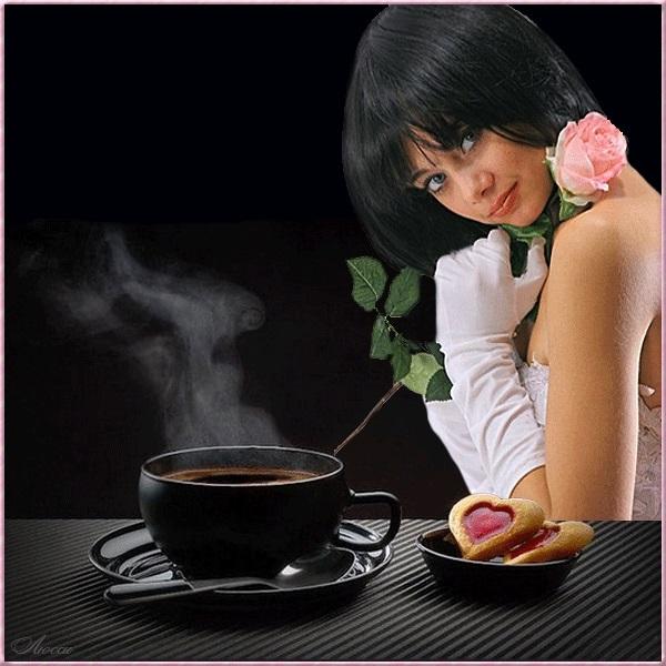 Картинки девушка утром с кофе 017