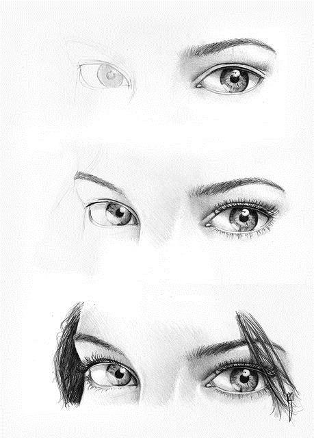 Картинки для срисовки глаза 022