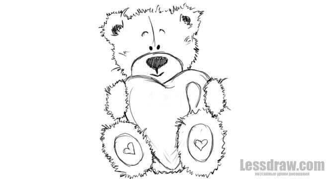Картинки для срисовки мишки 011