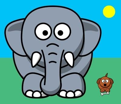 Картинки иллюстрации к басне крылова слон и моська 001