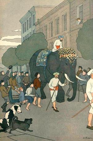 Картинки иллюстрации к басне крылова слон и моська 005