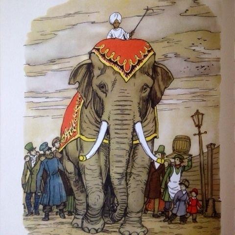 Картинки иллюстрации к басне крылова слон и моська 009