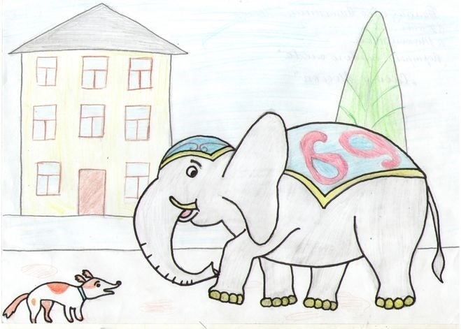 Картинки иллюстрации к басне крылова слон и моська 010