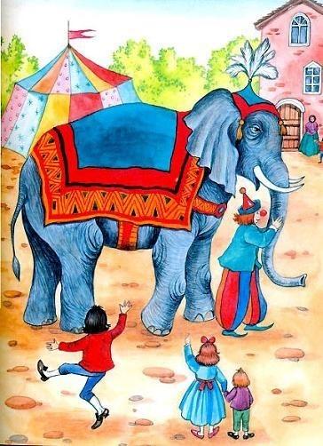 Картинки иллюстрации к басне крылова слон и моська 011
