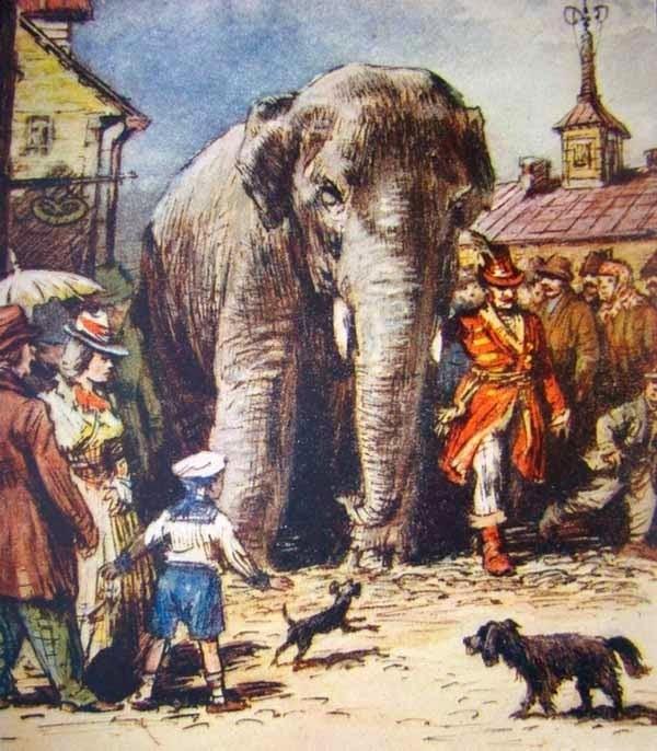 Картинки иллюстрации к басне крылова слон и моська 018