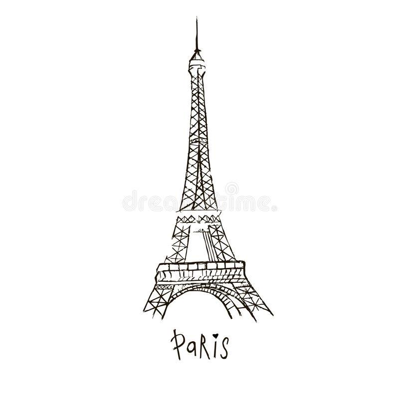 картинки нарисованная эйфелева башня