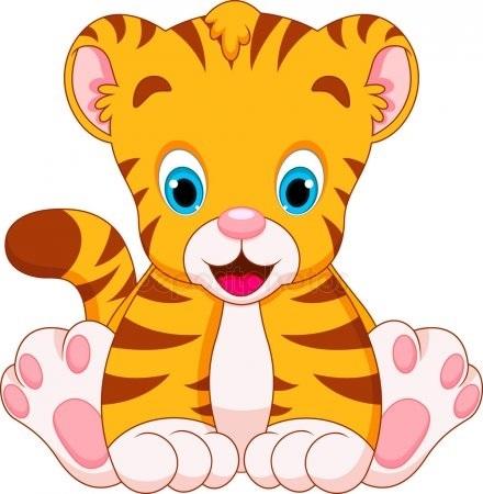 Открытки февраля, тигренок картинки для детей на прозрачном фоне