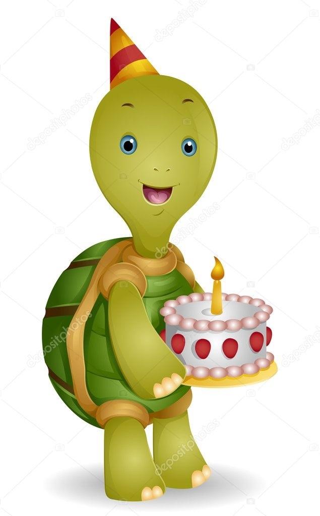 Добрым, открытка с днем рождения с черепахой