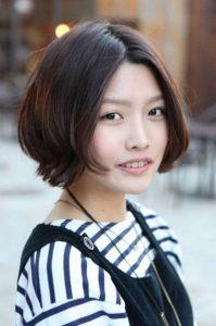 Короткие корейские женские стрижки 26 28 019