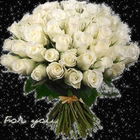Букет белых роз гифы, для