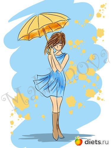 Красивый рисунок осени в виде девушки для детей (1)