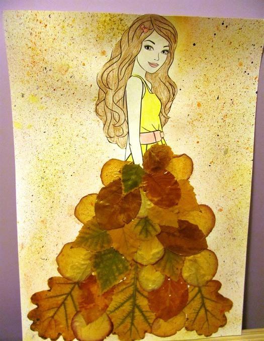 Красивый рисунок осени в виде девушки для детей (13)