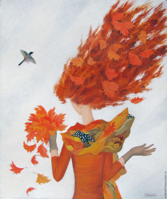 Красивый рисунок осени в виде девушки для детей (7)