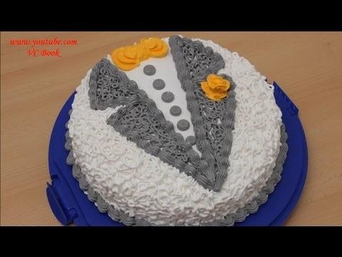 Мужские торты из крема 002